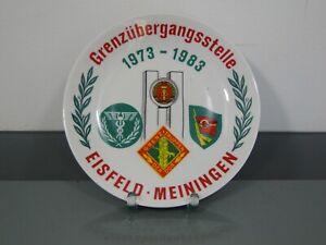 Teller,Jubiläum,Grenzübergangsstelle EISFELD-MEININGEN,Grenztruppen,1983,DDR,Mfs