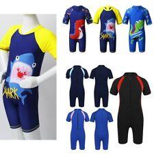 Boys Swimwear Bathing Suit Shark Dinosaur Swimsuits Rash Guard Tankini Costumes