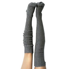 5d43a5505d8 Women Girls Cable Knit Extra Long Boot Socks Over Knee Thigh High Warm  Stock RAH
