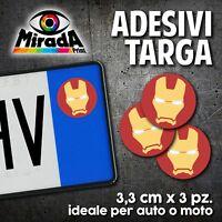 ADESIVI STICKERS BOLLINO TARGA IRON MAN COMICS AVENGERS AUTO MOTO PLATE CAR 2