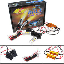 2 x T20 W21W 7440 42SMD Switchback LED White DRL & Amber Turn Signals Light Lamp