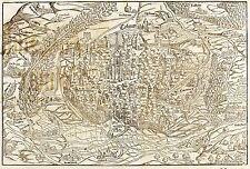 COLMAR / KOLMAR - VOGELSCHAU - Sebastian Münster - Holzschnitt 1548