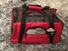 Airline Approved Pet Cabin Shoulder Bag Dog Cat New In Red Small Soft Fabric