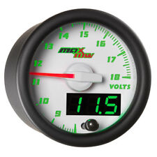 MaxTow 52mm White ELECTRONIC VOLTMETER GAUGE 8-18v MT-WDV05