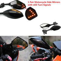 Rétroviseurs latéraux à LEDs clignotants pour moto Yamaha Suzuki FR
