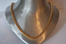 GOLD PLATE SIGNED JH  WHEAT TYPE CHAIN NECKLACE