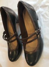 38f19175907 NATURALIZER N5 COMFORT JAMESON WOMENS BROWN NAVY BLUE MARY JANE PUMPS 7