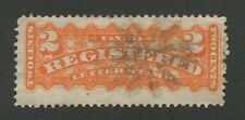 CANADA FANCY CORK CANCEL ON REGISTRATION STAMP (53)