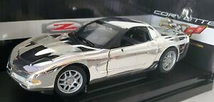 ERTL 1/18 2003 CORVETTE Z06 SILVER CHROME 1 OF 500 - Sequential # License Plate
