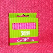Pink (Light) Birthday Cake Candles, 24 count, Bakery Crafts Spiral Twist Design