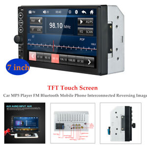 7-inch 2 DIN Car TFT Touch Screen MP5 Player FM Bluetooth Phone Reversing Image