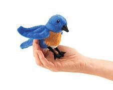 Bluebird Finger Puppet with Reddish Chest, Folkmanis MPN 2755, 3 & Up