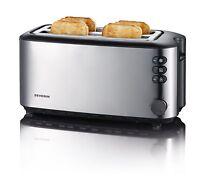 Severin Automatisch Lang Schlitz Toaster 4 Scheiben 1400W Gebürsteter Edelstahl