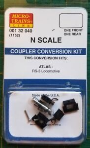 N Micro Trains 001 32 040 Coupler Conversion kit 1152 ATLAS  RS-3