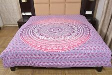 Indian Ombre Mandala Duvet Cover Queen Blanket Cover Ethnic Cotton Quilt Cover
