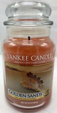 Yankee Candle Golden Sands Large Jar Candle Housewarmer 22 oz 1 Wick Lit Once