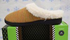 Isotoner slippers Womens Woodlands French Terry Slipper Buckskin Large 8.5-9