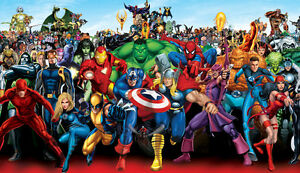 SUPERHEROES counted cross stitch chart (also available as A4 glossy print