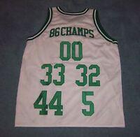 Boston Celtics 1986 NBA Championship Throwback Jersey Bird Walton Parrish McHale