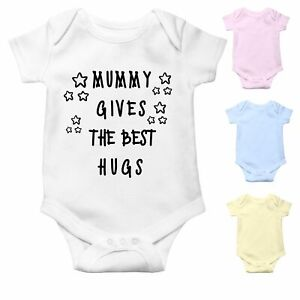 Mummy Gives the Best Hugs | Cute Baby Grow | Baby Bodysuit Baby Vest | Baby Gift