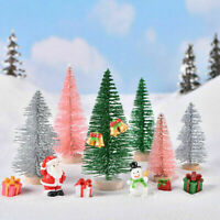 24Pcs DIY Tabletop Christmas Pine Tree Xmas Mini Snow Tree Small Decoration Gift
