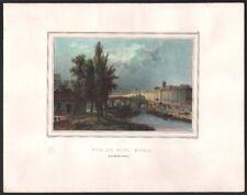 Charles Motte. Le Pont Marie. Lithographie d'après Deroy. Vers 1830. Paris