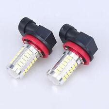 2pcs White H11 H8 33-LED 5730 7.5W Car Day Driving Fog Head Lamp DRL light Bulb