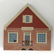 Fine Millinery Cats Meow Village Wooden Signed Faline 94 Williamsburg Margaret H