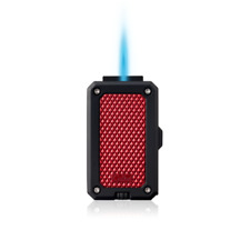 NEW Colibri Rally Single Jet Flame Cigar Lighter in Black & Red