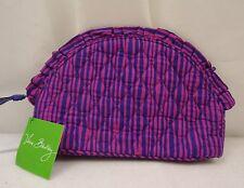 Vera Bradley Ruffle Cosmetic Bag Impressionista Stripe  NWT