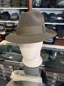 Vintage Biltmore Rosellini Sage Green Men's Felt Hat Made In Canada Size 7 1/4