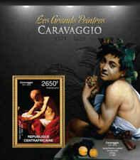 Central África - Artista Caravaggio - Sello Souvenir Hoja - 3H-381