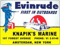 """Vintage Reproduction Evinrude Outboard Motor 9"""" x 12"""" Metal Tin Aluminum Sign 1"""