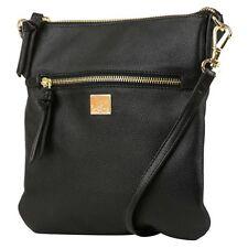 New NWT Kooba Crossbody Pebbled Textured Black Leather Handbag Bag Purse !!!