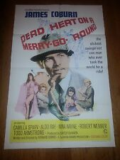DEAD HEAT ON A MERRY GO ROUND ORIG MOVIE POSTER 1966 James Coburn