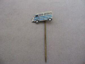 KES ZEGELS Blue & White Van Vintage Foreign Mens Hat Stick Pin Advertising