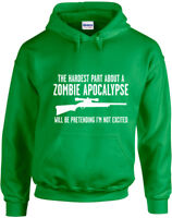 Hardest Part About A Zombie Apocalypse, The Walking Dead inspired Printed Hoodie
