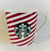 Starbucks Christmas Candy Cane Striped Wide 18 oz. Mug Cup Green Mermaid 2019