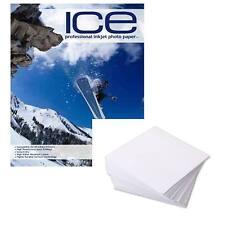 5x Paquetes de Ice Mate Impresora inyección Tinta Papel fotográfico 128gsm A4