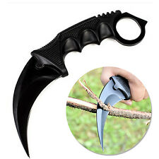 Black Fade Karambit Tooth Doppler Counter Strike Fixed Blade Knife NICE