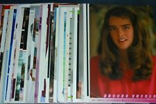Lot of 77 BROOKE SHIELDS 1970s/1980s Japan Picture Clippings blue lagoon
