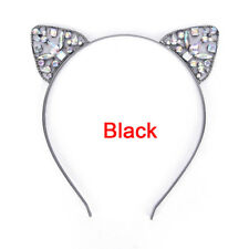 Girls Metal Rhinestone Cat Ear Headband Hair band Costume Party Cosplay  DSUK