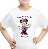 Personalised I Can/'t Keep Calm I/'m Going To Disney Minnie Mouse Girls Top Tshirt