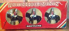 British Regiments Britains Set Of Three Handpainted Mounted Lifeguards 7228