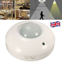 360° Automatic Infrared PIR Motion Sensor Switch Detector For LED Light Lamp UK
