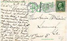 NC Highpoint Oct 2 1909 American Flag Cancel B14 North Carolina
