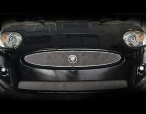 Jaguar XK & XKR Upper Mesh Grille OE Style w growler Bright Stainless 07-2011