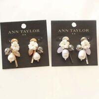 New Crystal Pearl Drop Dangle Earrings Gift Vintage Women Jewelry 2Colors Chosen