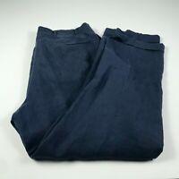 Brooks Brothers Mens 36 x 30 Dress Pants 100% Linen Blue Pleated Cuffed Slacks
