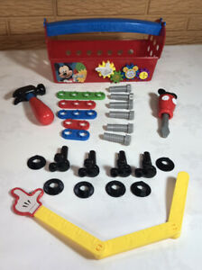 Disney Junior Jr. Mickey Mouse Clubhouse Handy Helper Tool Box! Ages 3+